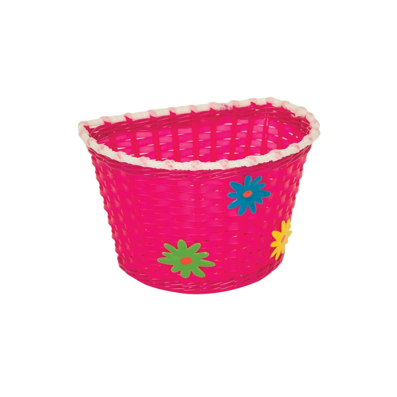 PACIFIC KIDZ BITZ BASKET WITH FLOWERS PINK