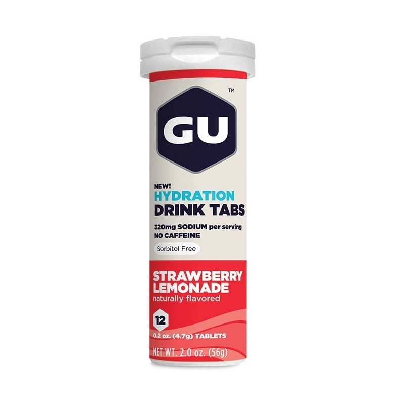 GU HYDRATION DRINK 12 TABS STRAWBERRY/LEMONADE