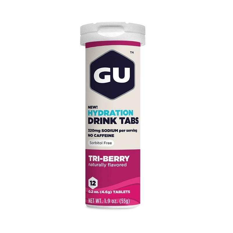 GU HYDRATION DRINK 12 TABS TRI BERRY