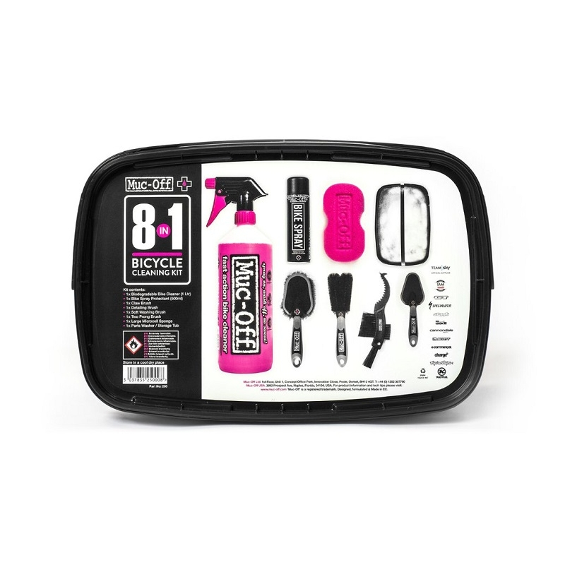 MUC-OFF 8-IN-ONE BIKE CLEANING KIT #250