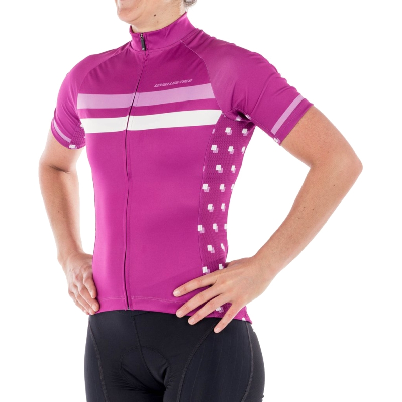 BELLWETHER GALAXY DAZZLE JERSEY LADIES FUCHSIA SMALL