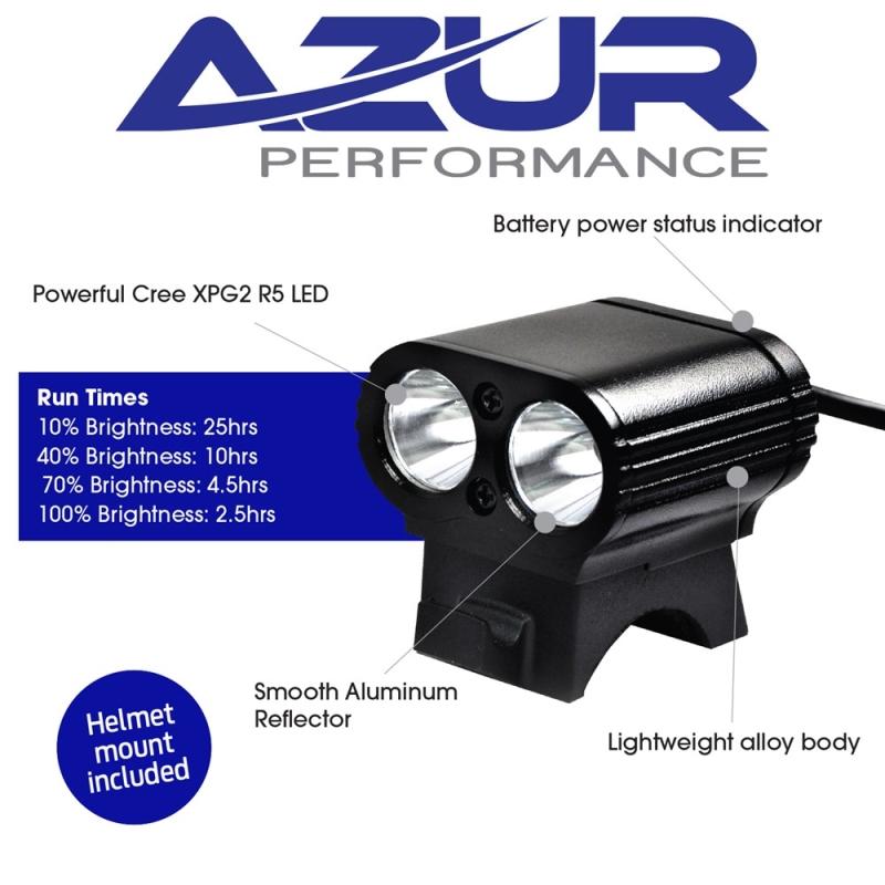AZUR DUAL MINI 800 LUMEN HEAD LIGHT