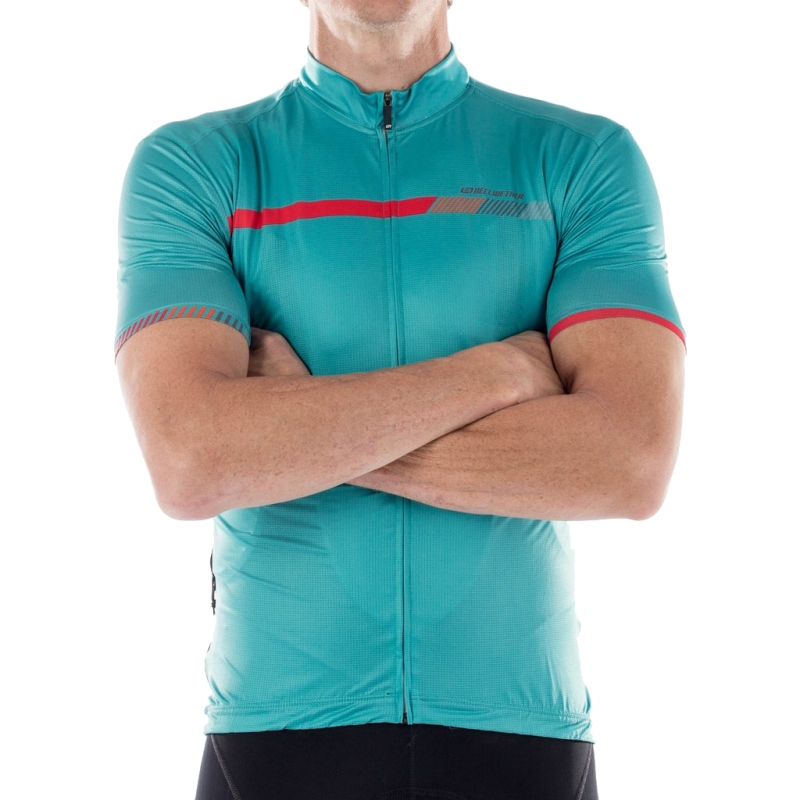BELLWETHER HELIUS JERSEY MENS AQUA SMALL