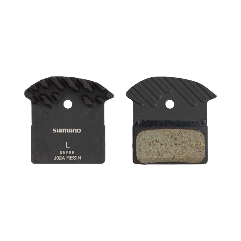 SHIMANO J02A DISC PADS WITH COOLING FINS