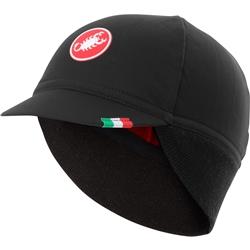 Image: CASTELLI DIFESA 2 CYCLING CAP 4518534 010 BLACK / RED UNIVERSAL
