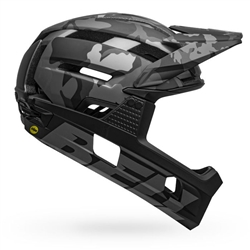 Image: BELL SUPER AIR R MIPS MATTE BLACK / GLOSS BLACK CAMO LARGE