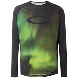 Image: OAKLEY MTB LONG SLEEVE TECH TEE AURORA BOREALIS XL