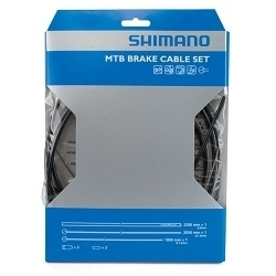 Image: SHIMANO BRAKE CABLE KIT COMPLETE STAINLESS BLACK
