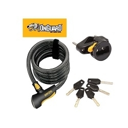 Image: ONGUARD CABLE COIL LOCK DOBERMAN KEY 185CM X 12MM