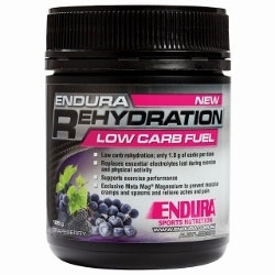 Image: ENDURA NUTRITION REHYDRATION LOW CARB FUEL 128G GRAPEBERRY