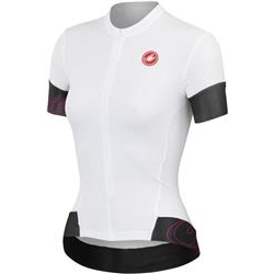 Image: CASTELLI FORTUNA FZ JERSEY LADIES WHITE / BLACK LARGE