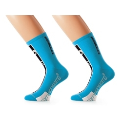 Image: ASSOS INTERMEDIATE SOCKS S7 2 PACK DEAL BLUE CALYPSO 0 (35-38)