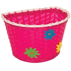 Image: PACIFIC KIDZ BITZ BASKET WITH FLOWERS PINK