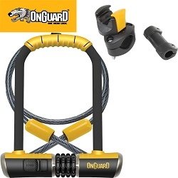 Image: ONGUARD U-LOCK DT BULLDOG COMBO 11.5CM X 23CM WITH CABLE 120CM X 10MM