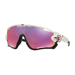 Image: OAKLEY JAWBREAKER POLISHED WHITE - PRIZM ROAD