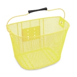 Image: ELECTRA BASKET STEEL MESH QR FRONT YELLOW