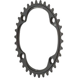 Image: CAMPAGNOLO SUPER RECORD CHAINRING FC-SR234 WITH CHAIN RING BOLTS