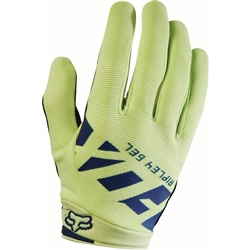 Image: FOX HEAD RIPLEY GEL LADIES GLOVES NAVY / YELLOW SMALL
