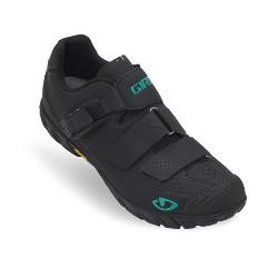 Image: GIRO TERRADURA LADIES SHOE BLACK / DYNASTY GREEN 37