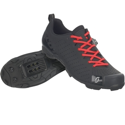 Image: SCOTT MTB RC LACE SHOES MATT BLACK / GLOSS BLACK 45