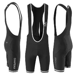 Image: CHAPEAU! CLUB BIB SHORTS BASTOGNE HP PAD BLACK / WHITE XXLARGE