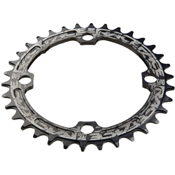 Image: RACEFACE NARROW WIDE SINGLE CHAINRING 104 BCD BLACK