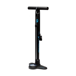 Image: BLACKBURN PISTON 2 FLOOR PUMP BLACK / CYAN