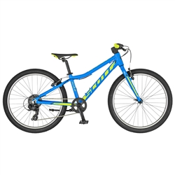 Image: SCOTT SCALE 24 RIGID FORK 2019 BRIGHT BLUE / FLUORO YELLOW