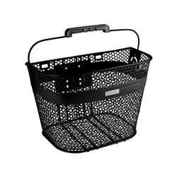 Image: ELECTRA BASKET STEEL MESH QR FRONT BLACK