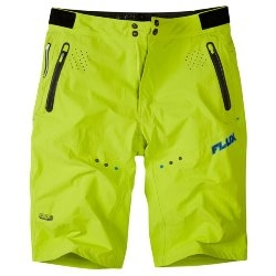 Image: MADISON FLUX SHORTS MENS LIMEAID 2XLARGE