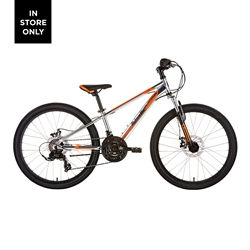 Image: MALVERN STAR ATTITUDE 24 DISC 2021 BRUSHED ALUMINIUM / ORANGE