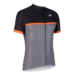 Image: SOLO CADENCE JERSEY BLACK / ORANGE MEDIUM