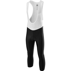 Image: MADISON SPORTIVE 3/4 BIB SHORTS MENS BLACK / WHITE 2XLARGE