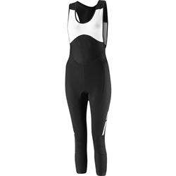 Image: MADISON SPORTIVE OSLO DWR 3/4 BIB SHORTS LADIES BLACK MEDIUM (10)