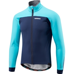 Image: MADISON ROADRACE APEX SOFTSHELL JACKET MENS INK BLUE / BLUE CURACO MEDIUM