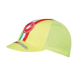 Image: CASTELLI PERFORMANCE CYCLING CAP 4514047 FLUORO YELLOW ONE SIZE