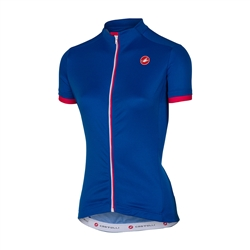 Image: CASTELLI ANIMA JERSEY 4516055 LADIES MATTE BLUE LARGE