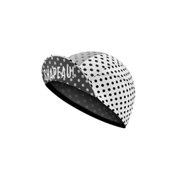 Image: CHAPEAU! LIGHTWEIGHT CYCLE CAP POLKA CARBON GREY ONE SIZE