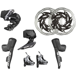 Image: SRAM RED ETAP AXS 2X HYDRAULIC FLAT MOUNT UPGRADE KIT