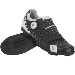 Image: SCOTT MTB PREMIUM SHOES MATT BLACK / GLOSS WHITE 42