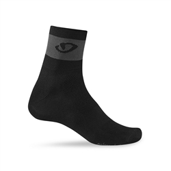 Image: GIRO COMP RACER SOCKS BLACK / CHARCOAL SMALL (36-39 EU)