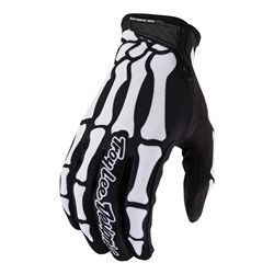 Image: TROY LEE AIR YOUTH GLOVES SKULLY 2020 BLACK / WHITE YOUTH MD