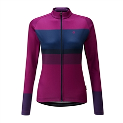 Image: CHAPEAU! MADELEINE BLOCK STRIPE THERMAL LADIES JERSEY JUNIPER XSMALL