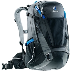 Image: DEUTER TRANS ALPINE 30 BACKPACK BLACK / GRANITE