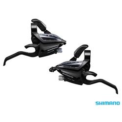 Image: SHIMANO ALTUS ST-EF500 EZ-FIRE STI SET 7X3 BLACK