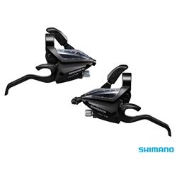 Image: SHIMANO ALTUS ST-EF500 EZ-FIRE STI SET 8X3 BLACK