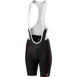 Image: CASTELLI VELOCISSIMA BIBSHORT 4515046 BLACK / RED SMALL