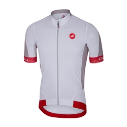 Image: CASTELLI VOLATA 2 4517018 JERSEY MENS WHITE / RED MEDIUM