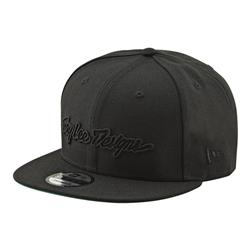 Image: TROY LEE CLASSIC SIGNATURE CAP SNAPBACK BLACK / BLACK ONE SIZE