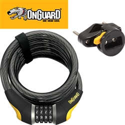 Image: ONGUARD CABLE COIL LOCK DOBERMAN COMBO 185CM X 15MM